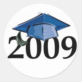 2009年の卒業のステッカーのシール ラウンドシール