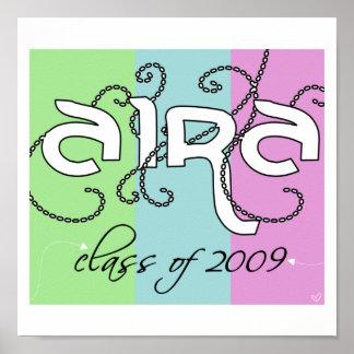 2009年のairaのクラス ポスター