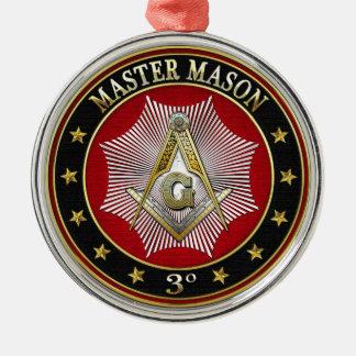[200]マスターの石大工-第3程度の正方形及びコンパス メタルオーナメント