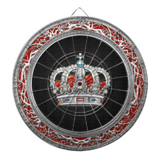 [200]王子プリンセスの王女王の王冠[銀] ダーツボード
