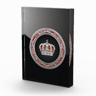 [200]王子プリンセスの王女王の王冠[銀] 表彰盾