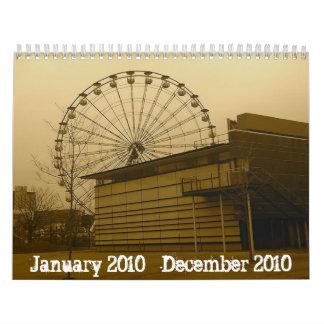 2010年1月, 2010年12月 カレンダー