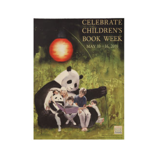 2010人の児童読書週間木ポスター ウッドポスター