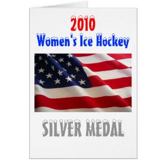 2010人の米国の女性のアイスホッケー-銀メダル カード