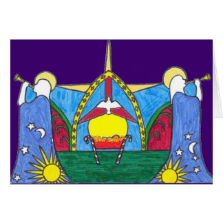 2010年のクリスマスカードの青の地面 カード