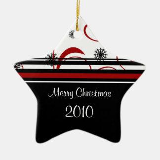 2010年のメリークリスマスの星のオーナメント セラミックオーナメント