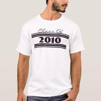 2010年の黒のストライブ柄のクラス Tシャツ