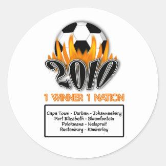 2010年の1つの国家1の勝者のフットボールの試合の開催地 ラウンドシール