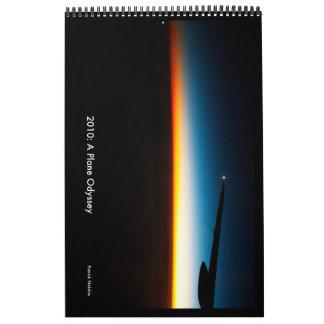 2010年: 飛行機のオデュッセイアの壁掛けカレンダー カレンダー