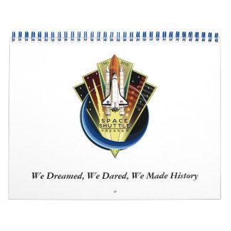 2011スペースシャトルの捧げ物のカレンダー カレンダー