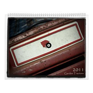 2011台の庭のトラクター カレンダー