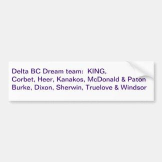 2011年のデルタの紫色のドリームチーム バンパーステッカー