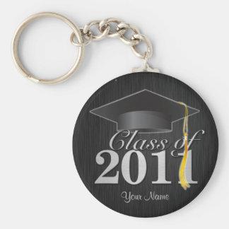 2011年の卒業の鍵鎖のクラス(blkの&silver) キーホルダー