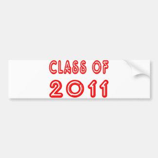 2011年の涼しいクラス バンパーステッカー