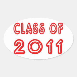 2011年の涼しいクラス 楕円形シール