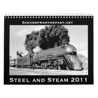 2011年の間更新される鋼鉄および蒸気- カレンダー