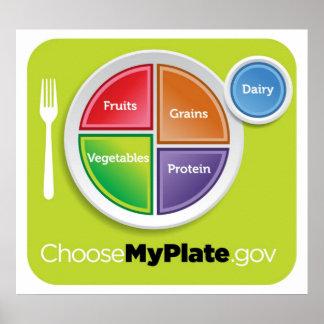 2011年の食糧ピラミッドは私のプレートポスターを選びます ポスター
