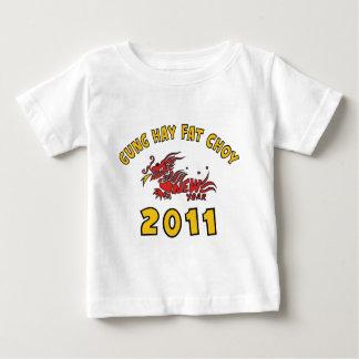2011年のGungの干し草の脂肪質のChoyのTシャツ ベビーTシャツ