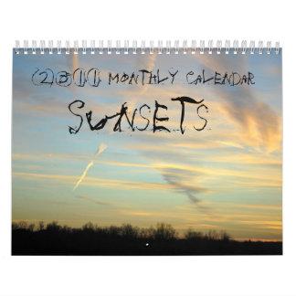 2011月例カレンダー、日没 カレンダー