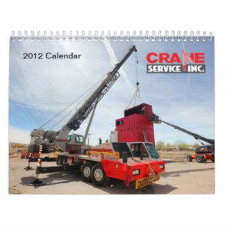 2012のクレーンサービス、株式会社のカレンダー カレンダー