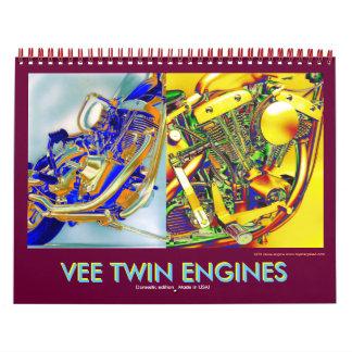 2012の国内V対のオートバイエンジン カレンダー