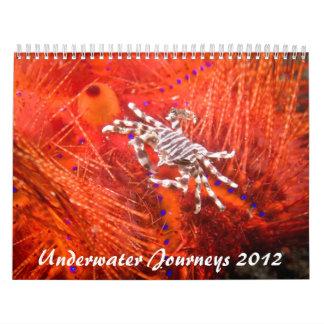 2012の水中旅行の海洋生物のカレンダー カレンダー
