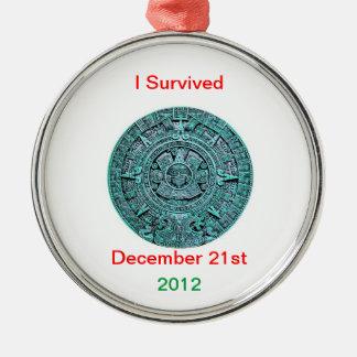 2012の12月21日、マヤのカレンダーのクリスマスのornamen メタルオーナメント
