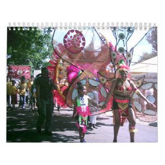 2012カレンダー、日曜日、海、砂、音楽および踊り カレンダー