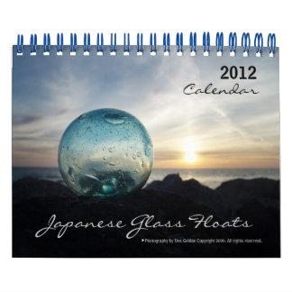 2012人の日本人のガラス浮遊物のカレンダー カレンダー