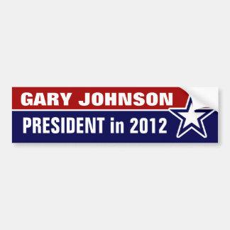 2012年にギャリージョンソン バンパーステッカー