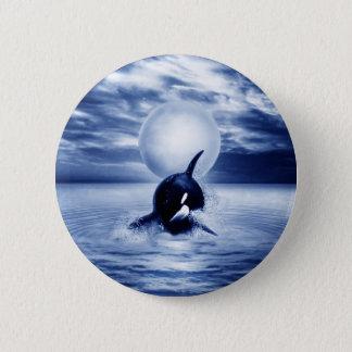 2012年にクジラそして月 5.7CM 丸型バッジ