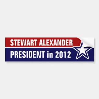 2012年にステュワートアレキサンダー バンパーステッカー