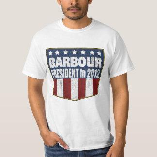 2012年に大統領のためのHaley Barbour (動揺して) Tシャツ