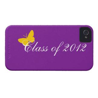 2012年のクラス-紫色および金ゴールド Case-Mate iPhone 4 ケース