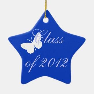 2012年のクラス-青い蝶 セラミックオーナメント