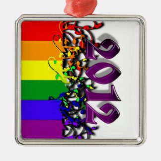2012年のゲイプライドの虹の旗のオーナメント メタルオーナメント