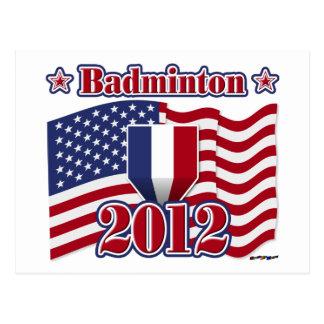 2012年のバドミントン ポストカード