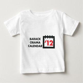 2012年のバラック・オバマのカレンダー ベビーTシャツ