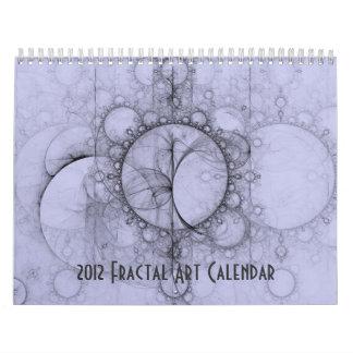 2012年のフラクタルの芸術のカレンダー カレンダー
