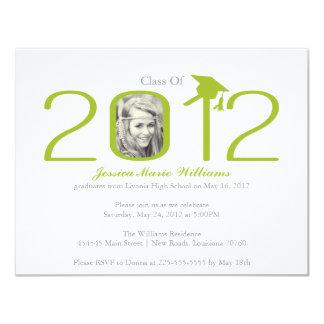 2012年の卒業パーティー 10.8 X 14 インビテーションカード