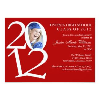 2012年の卒業パーティー 12.7 X 17.8 インビテーションカード