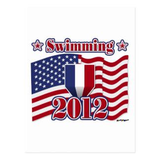 2012年の水泳 ポストカード