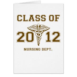2012年の看護の部門のクラス カード
