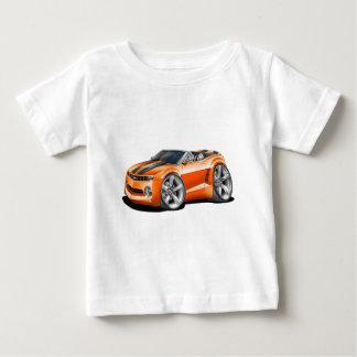 2012年のCamaroのオレンジ黒いコンバーチブル ベビーTシャツ