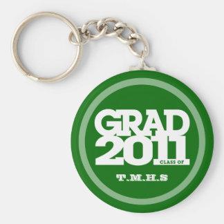 2012年のKeychainの緑の卒業のクラス キーホルダー