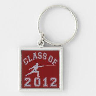 2012年フェンシングのクラス-灰色2の キーホルダー