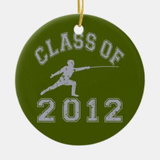 2012年フェンシングのクラス-灰色2の セラミックオーナメント