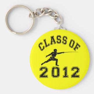 2012年フェンシングのクラス-黒2の キーホルダー