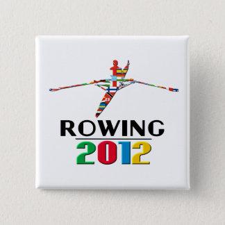 2012年: 漕艇 5.1CM 正方形バッジ