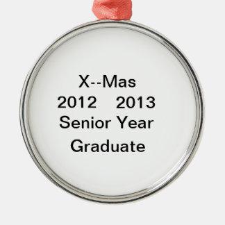 2012年--2013 4年生の卒業生のオーナメント メタルオーナメント